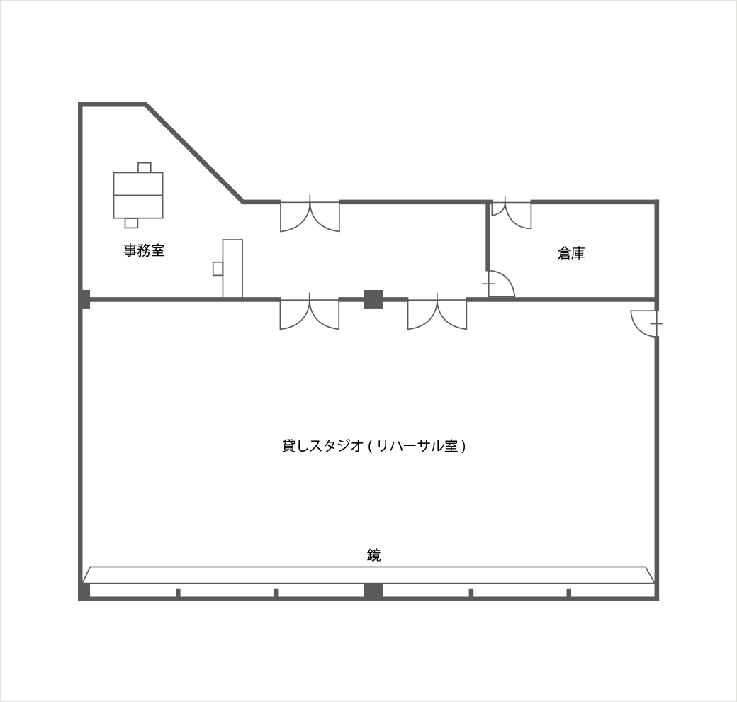 稽古場のマップ